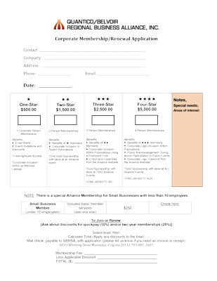 QBRB Alliance Membership Application New or Renewal